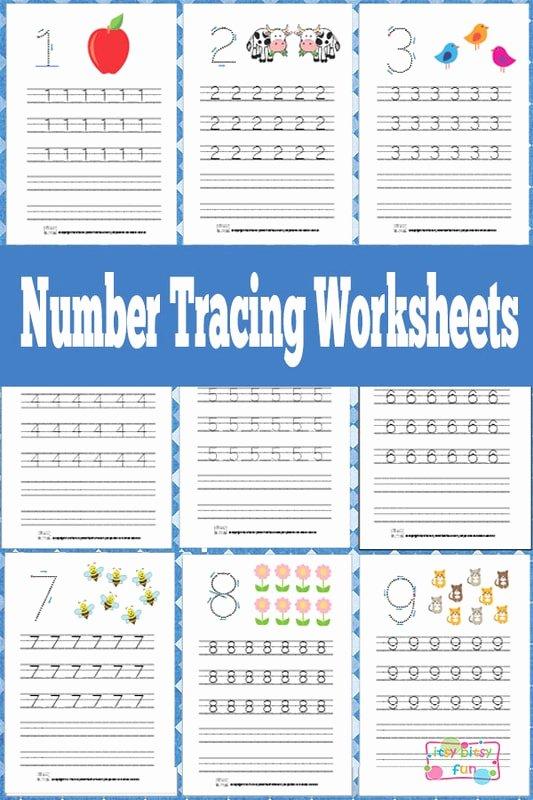 Free Printable Number Tracing Worksheets Printable Number Tracing Worksheets Free Printable Itsybitsyfun