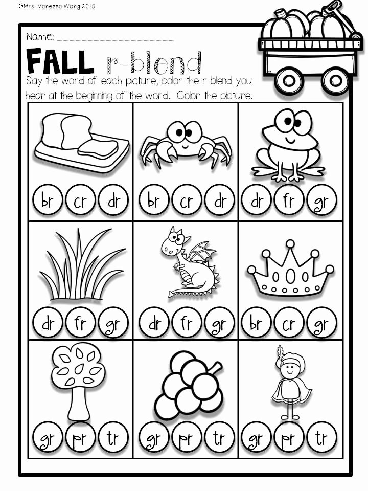 Free Printable R Blends Worksheets Best Of Fall Activities for Math and Literacy No Prep Printables