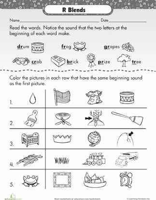 Free Printable R Blends Worksheets Kids Free Printable R Blends Worksheets
