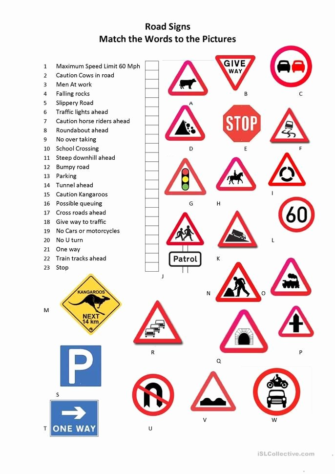 Free Printable Safety Signs Worksheets Free Road Signs Worksheet Free Esl Printable Worksheets Made by