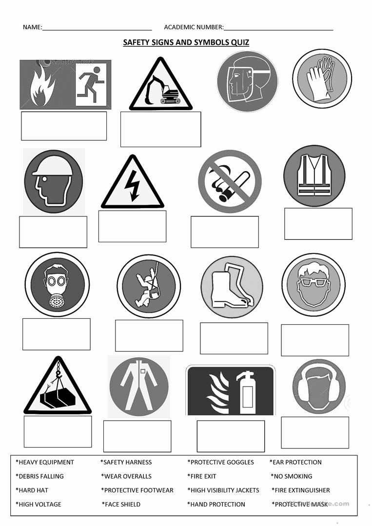 Free Printable Safety Signs Worksheets Ideas Safety Signs English Esl Worksheets for Distance Learning
