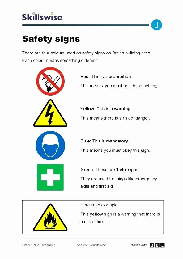 Free Printable Safety Signs Worksheets Kids Safety Symbols Worksheets – Keepyourheadup