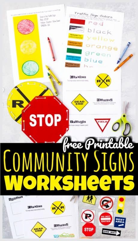Free Printable Safety Signs Worksheets Printable Free Printable Munity Signs Worksheets