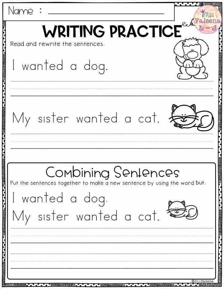 Free Printable Sentence Writing Worksheets Kids Coloring Pages 59 Kindergarten Writing Sentences