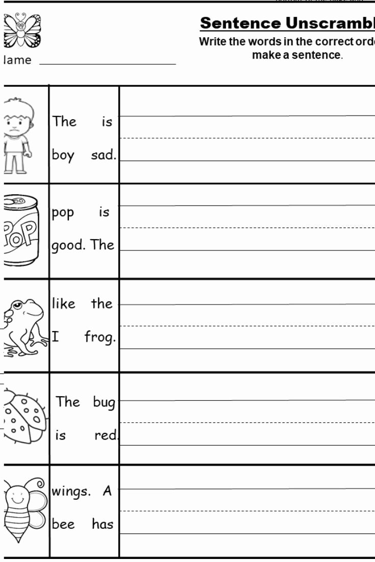 Free Printable Sentence Writing Worksheets top Free Kindergarten Writing Printable Kindermomma