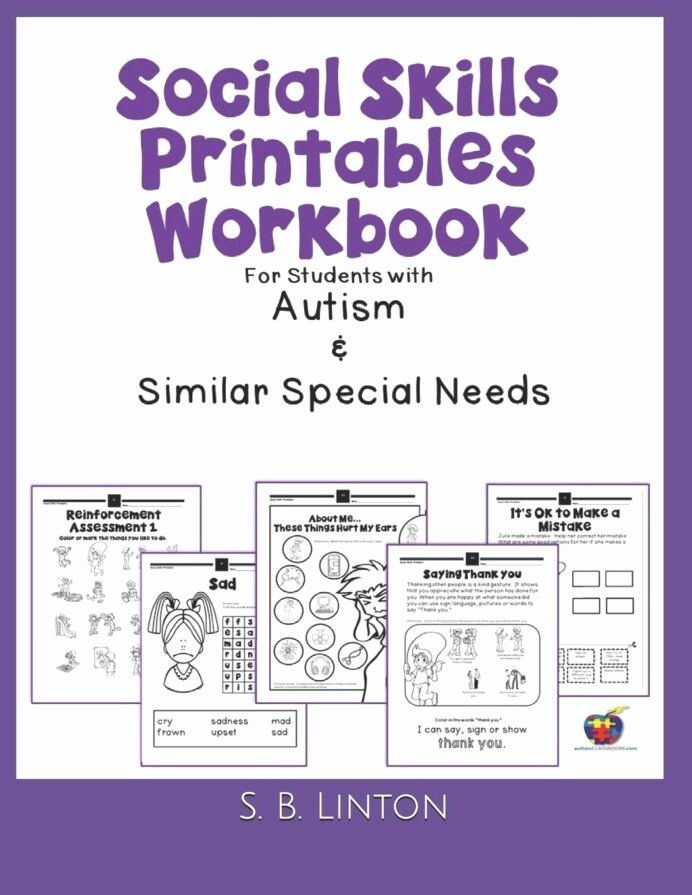 Free Printable social Skills Worksheets Kids social Skills Printables Workbook for Students with Autism
