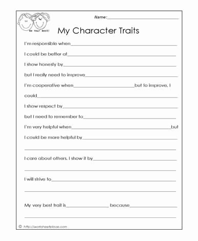 Free Printable social Skills Worksheets New My Character Traits social Skills Worksheets