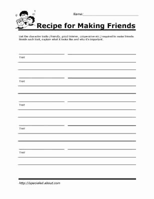 Free Printable social Skills Worksheets New Printable Worksheets for Kids to Help Build their social