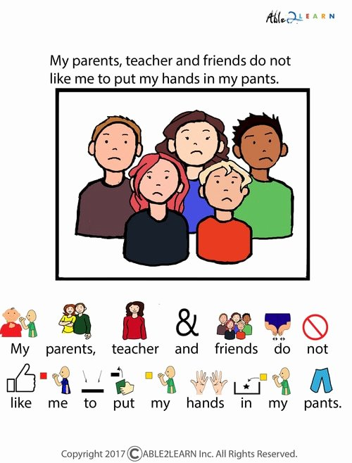 Free Printable social Stories Worksheets Free I Will Not Put My Hands Inside My Pants social Story Pages 7