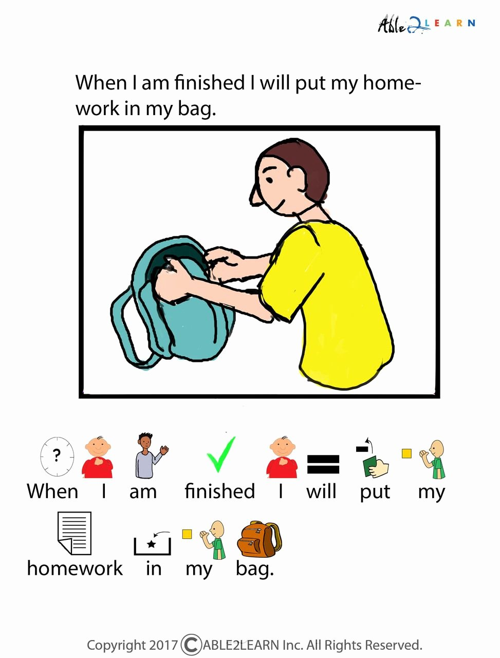 Free Printable social Stories Worksheets Ideas Free I Can Do My Homework social Story