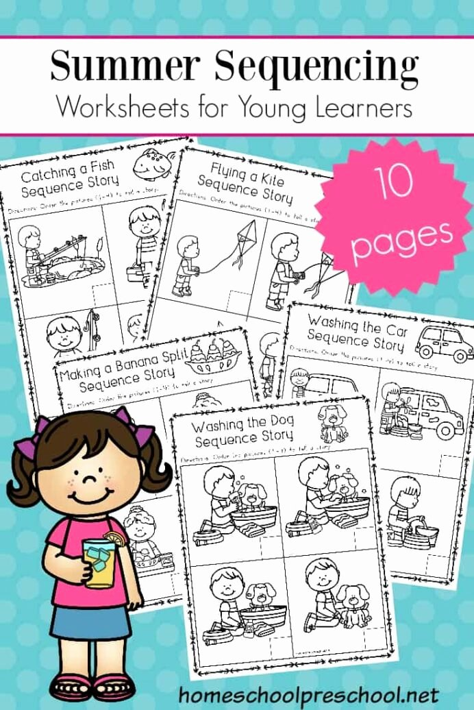 Free Printable Story Sequencing Worksheets Fresh Free Sequencing Worksheets for Summer Learning Cards Math