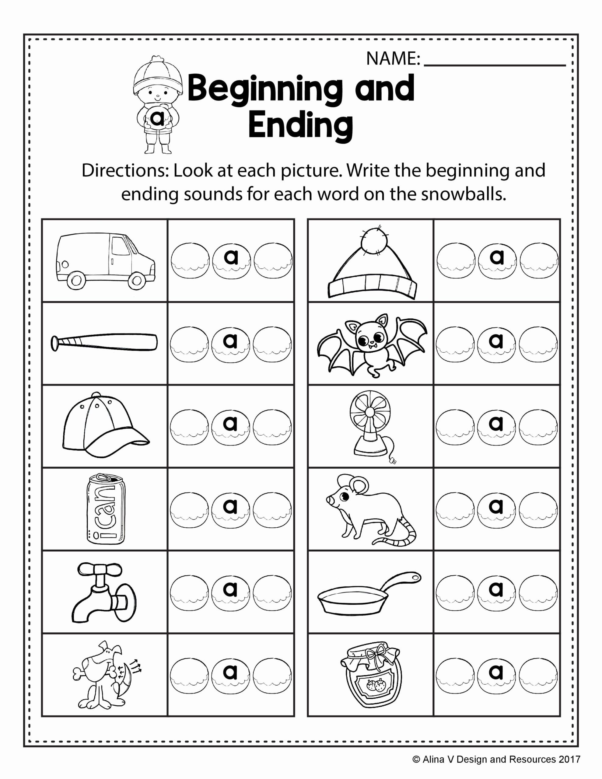 Free Rhyming Worksheets for Kindergarten Best Of Free Winter Literacy Worksheet for Kindergarten No Prep