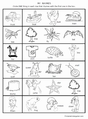 Free Rhyming Worksheets for Kindergarten Ideas Free First Grade Rhyming Worksheet