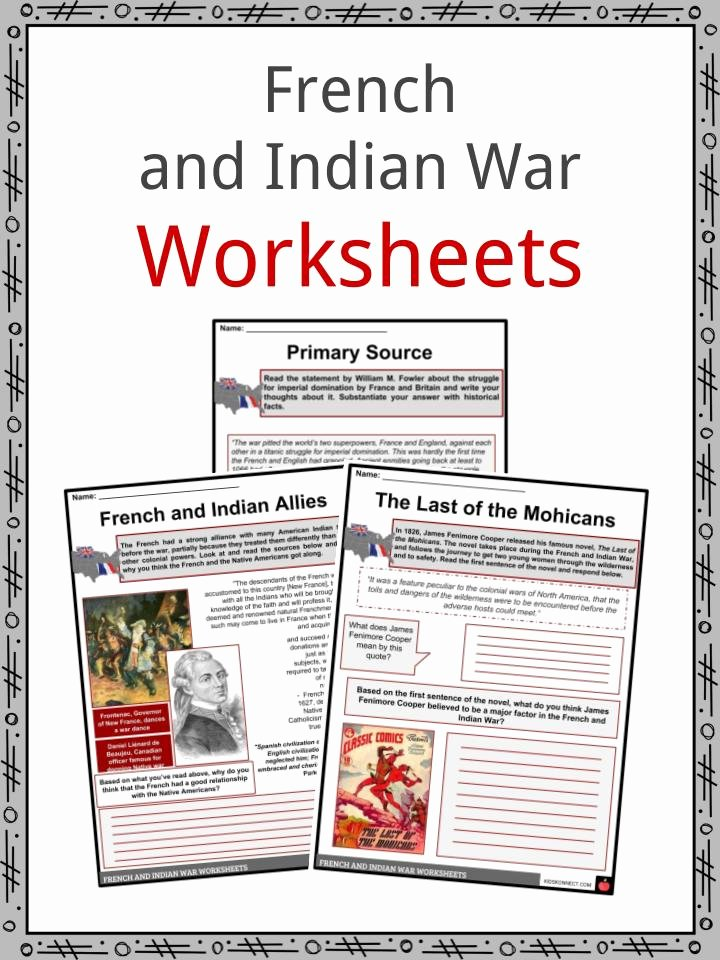 French and Indian War Worksheet Free French & Indian War Facts & Worksheets for Kids Seven