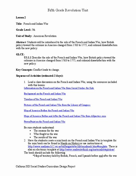 French and Indian War Worksheet Lovely French and Indian War Worksheet for 5th Grade