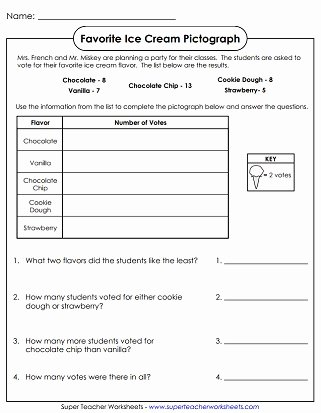 Frequency Table Worksheets 3rd Grade Inspirational Pictograph Worksheets