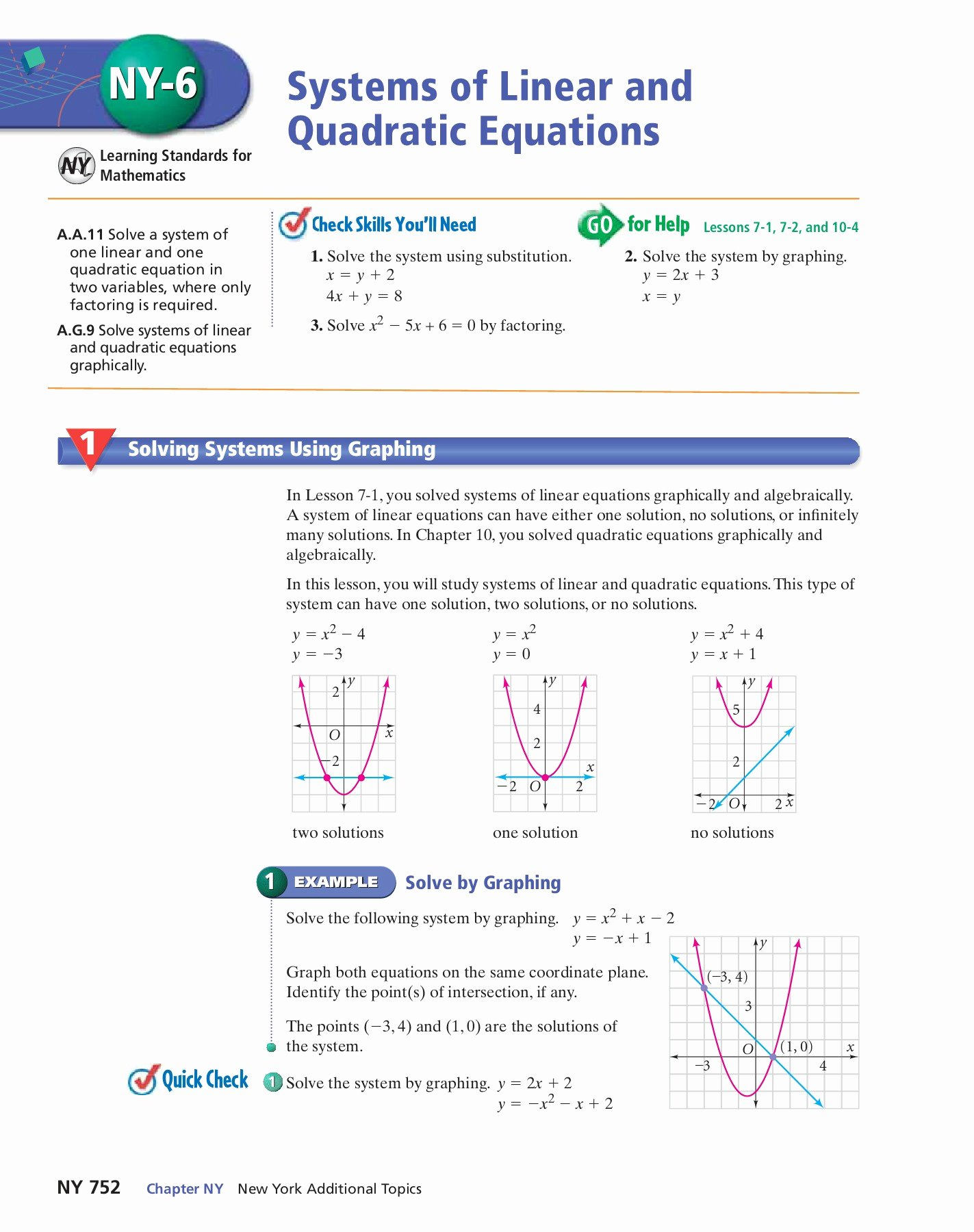From Linear to Quadratic Worksheet New System Linear and Quadratic Equations Worksheet Answers
