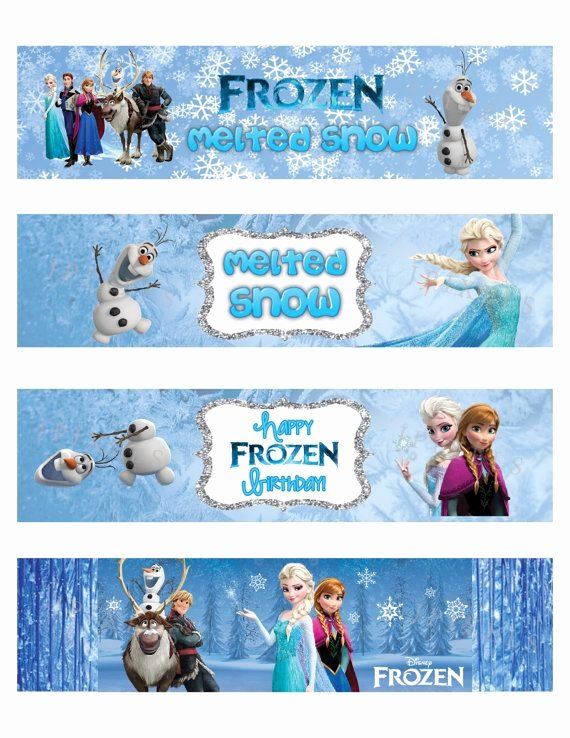 Frozen Free Printable Food Labels Best Of Awesome Free Template Free Printable Frozen Bottle Labels