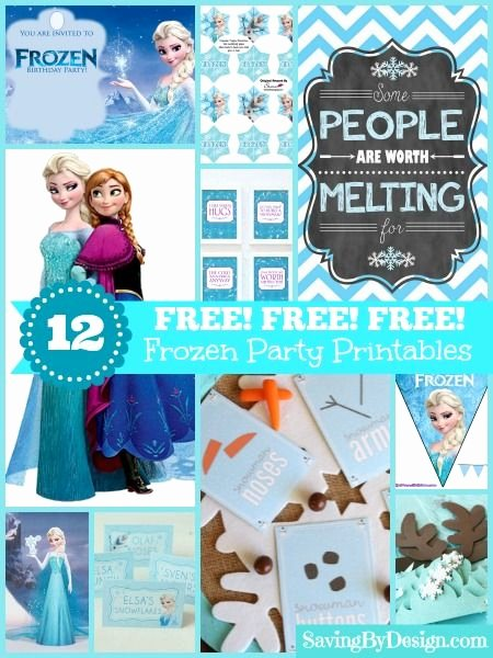 Frozen Free Printable Food Labels Ideas 12 Free Frozen Party Printables Saving by Design