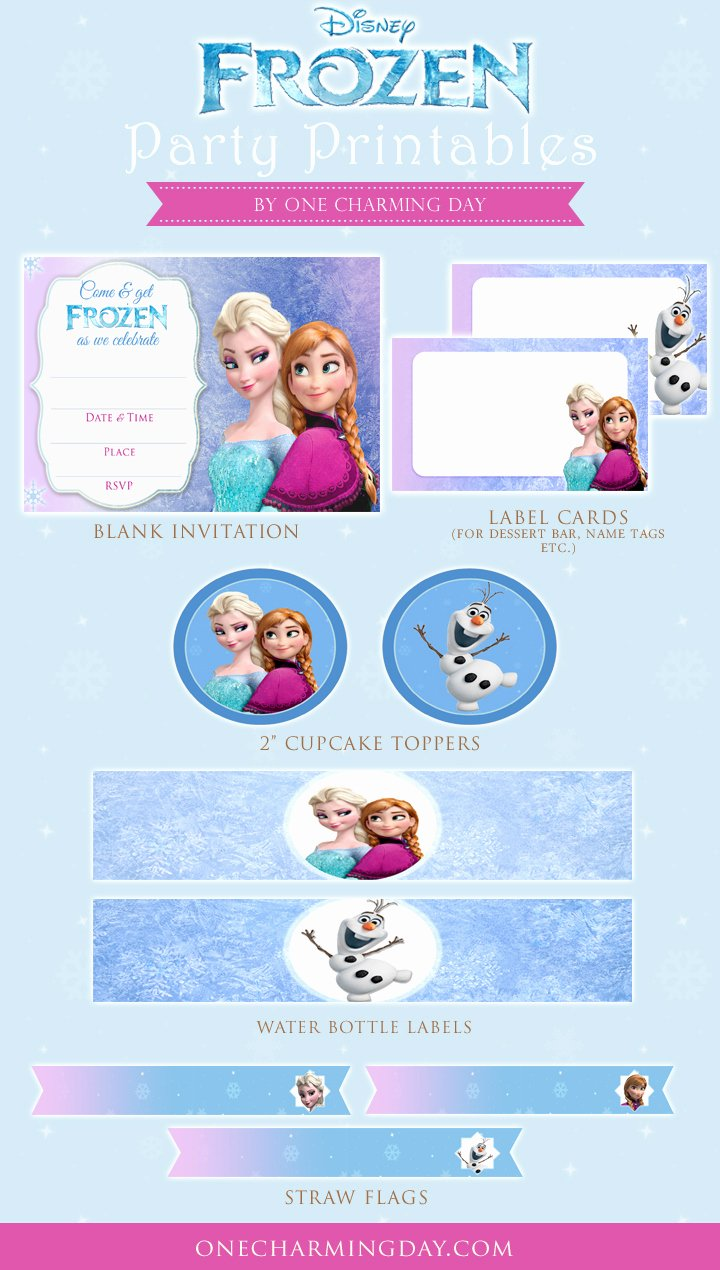 Frozen Free Printable Food Labels Lovely Free Frozen Party Printables E Charming Day