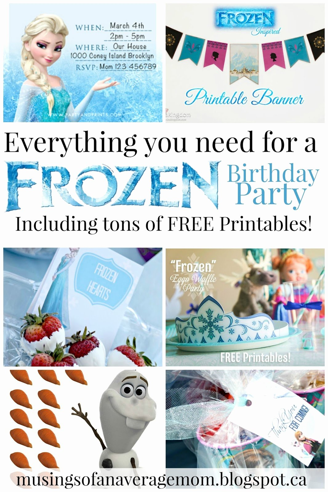 Frozen Free Printable Food Labels top Musings Of An Average Mom Free Frozen Party Printables