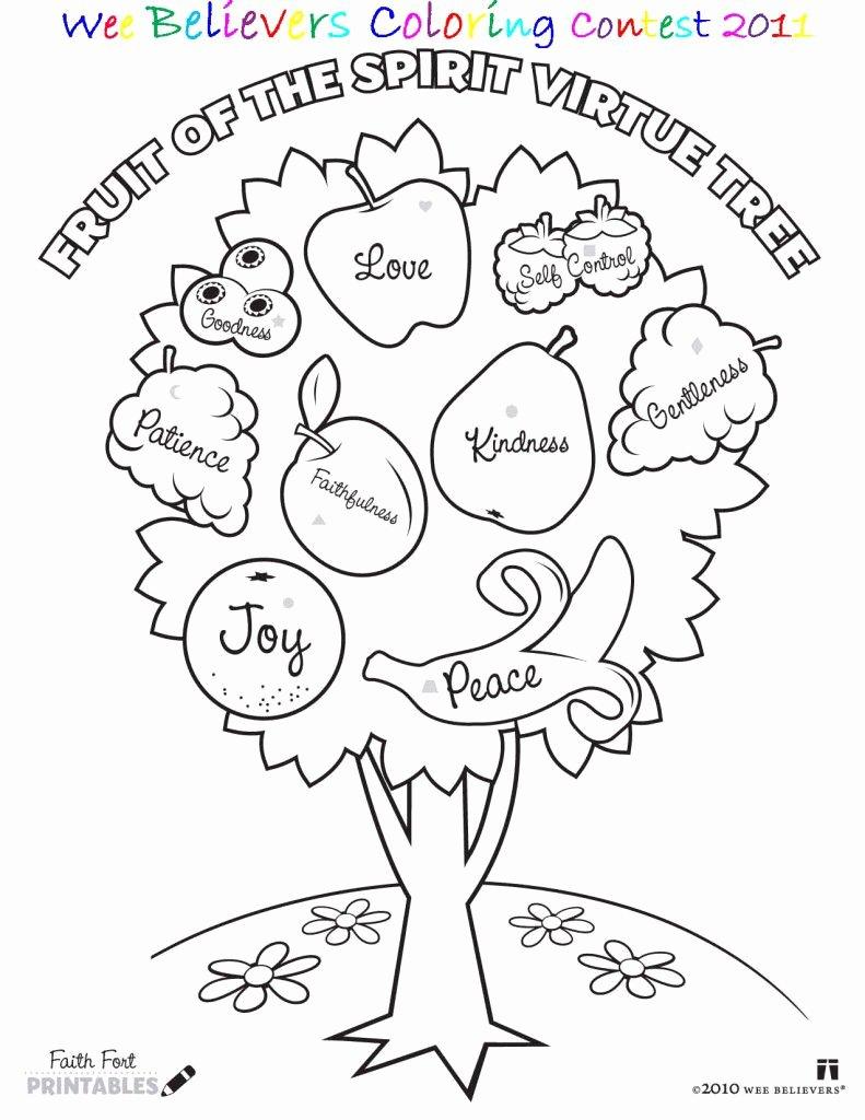Fruits Of the Spirit Worksheet Fresh Worksheet Worksheetpiritual Coloring Pages Printable