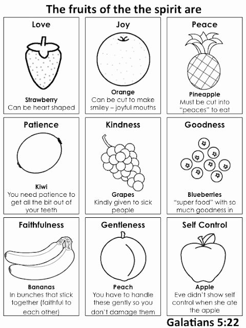 Fruits Of the Spirit Worksheets Ideas All Play Sunday the Fruits Of the Spirit