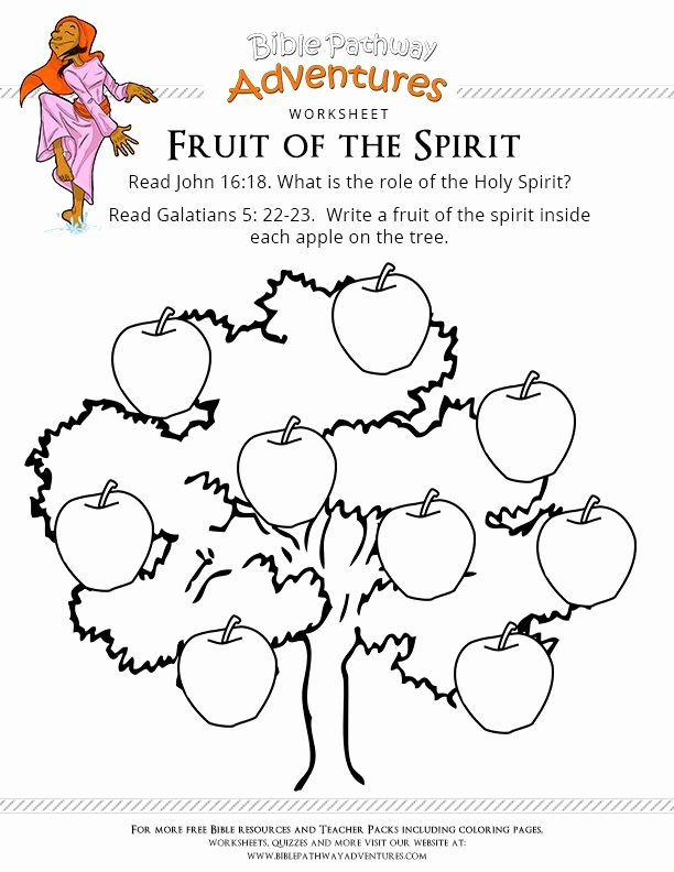 Fruits Of the Spirit Worksheets Inspirational Fruits the Spirit Worksheet Luxury Free Bible Worksheet