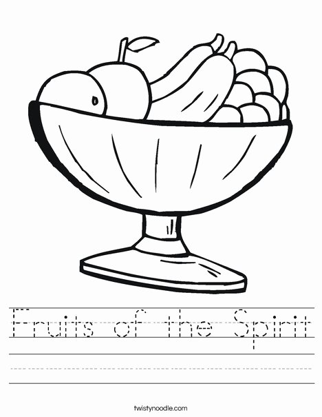Fruits Of the Spirit Worksheets Lovely Fruits Of the Spirit Worksheet Twisty Noodle