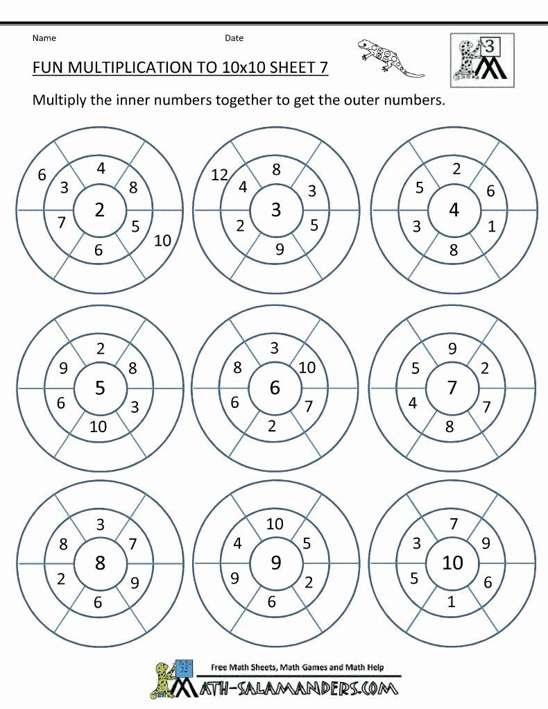 Fun Multiplication Worksheets Grade 3 New Multiplication Worksheets Grade 3 Pdf