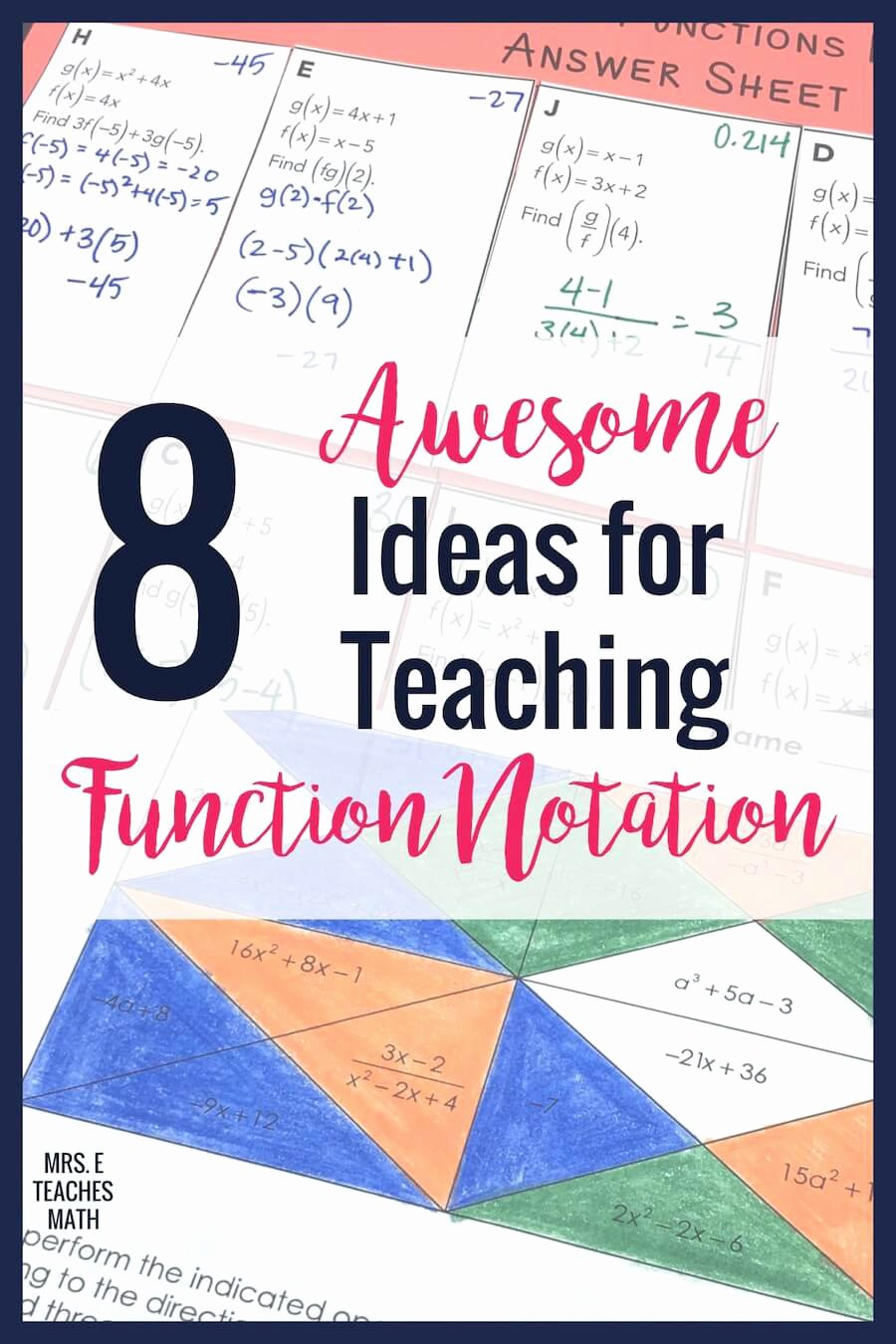 Function Operations and Composition Worksheet Ideas 8 Ideas for Teaching Function Notation