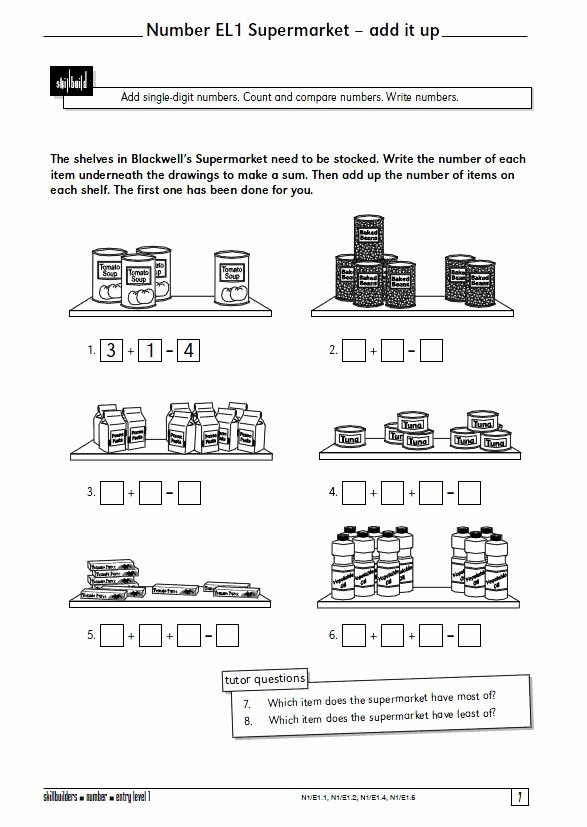 Functional Math Worksheets Special Education Printable Functional Maths Functional Skillbuilders Resources