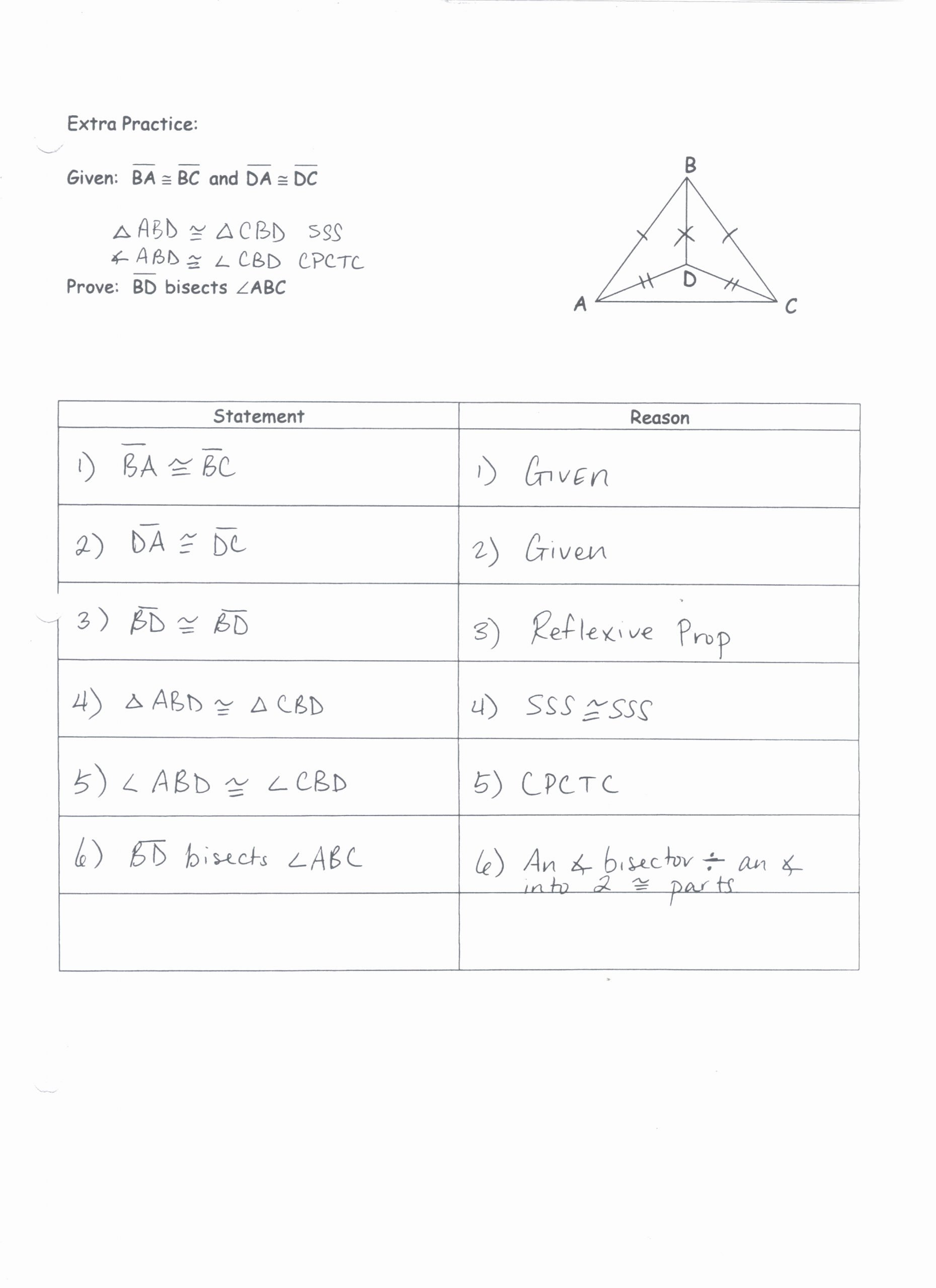 Geometric Proofs Worksheet with Answers Kids Unit 2 Congruent Triangle Proofs