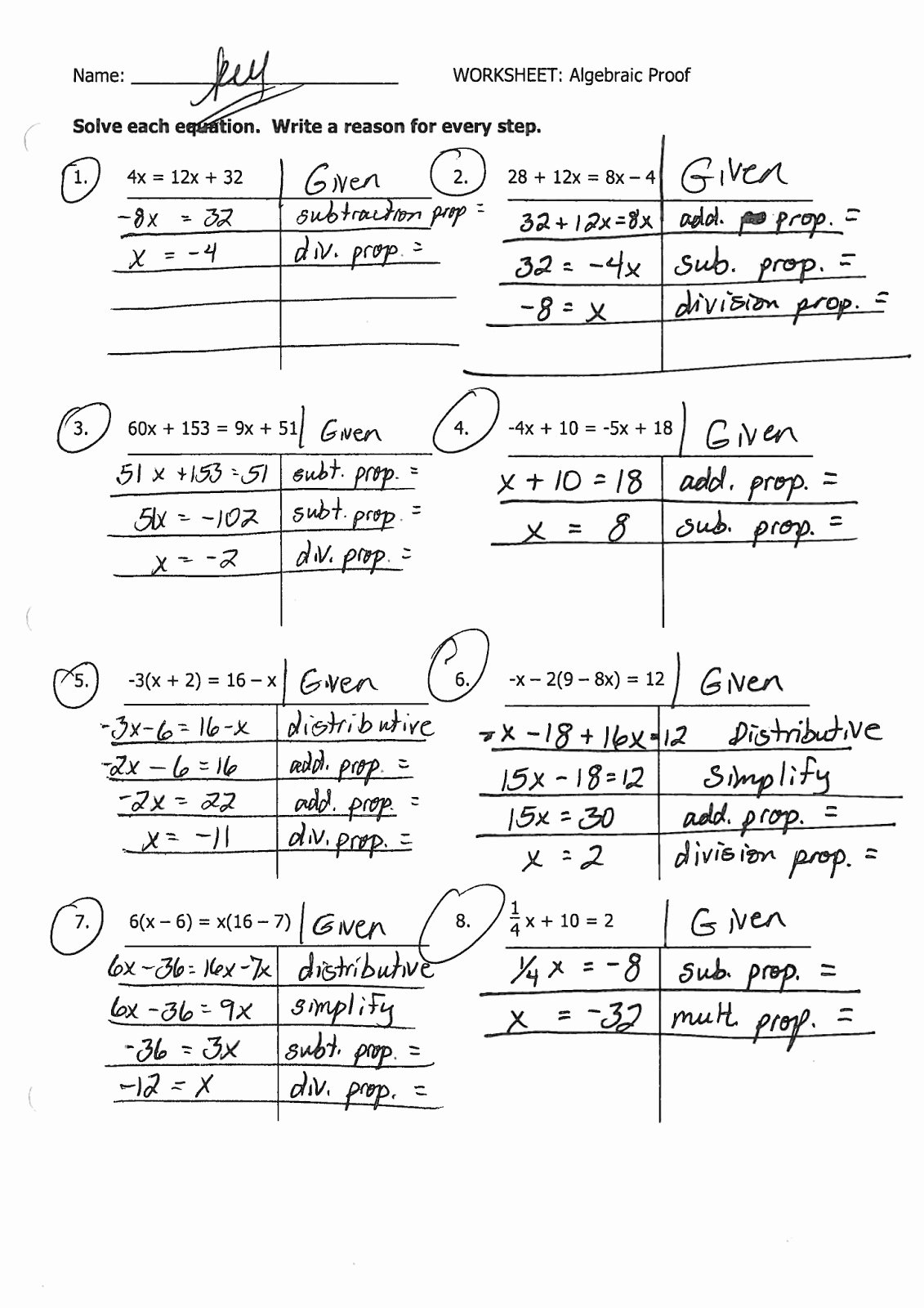 Geometric Proofs Worksheet with Answers Printable Geometry Proofs Worksheets with Answers