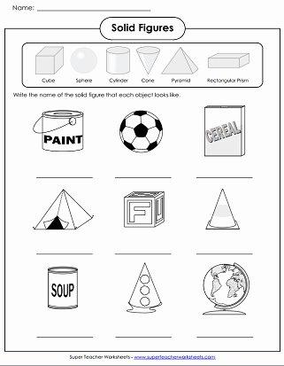 Geometric Shapes Worksheet 2nd Grade Kids solid Shapes Worksheets