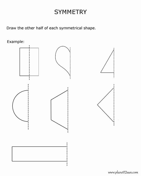 Geometric Shapes Worksheet 2nd Grade Kids Symmetry 2nd Grade Geometry Bluebirdplanet Printables