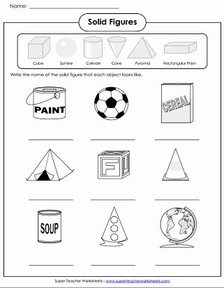 Geometric Shapes Worksheets 2nd Grade Lovely solid Shapes Worksheets