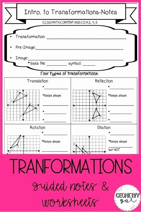 Geometry Transformation Composition Worksheet Answers New Geometry Transformation Position Worksheet Answers