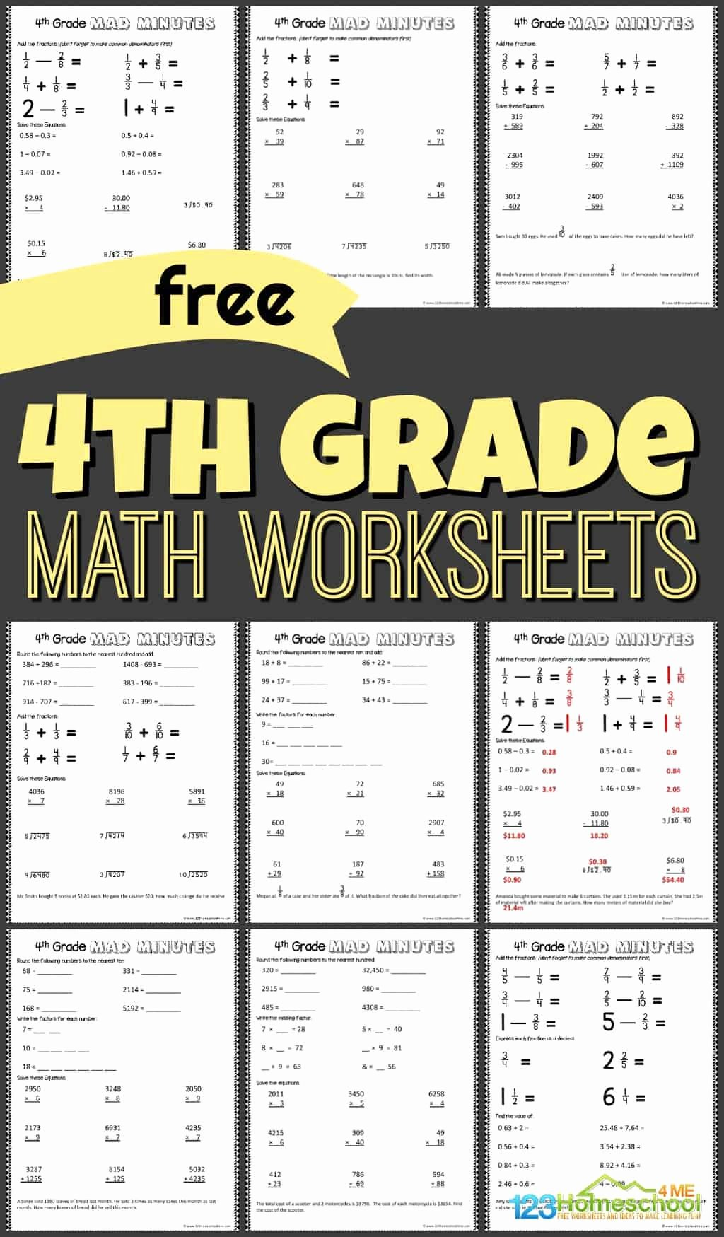 Go Math Grade 4 Worksheets Kids Free 4th Grade Math Worksheets for Fourth Graders to Practice