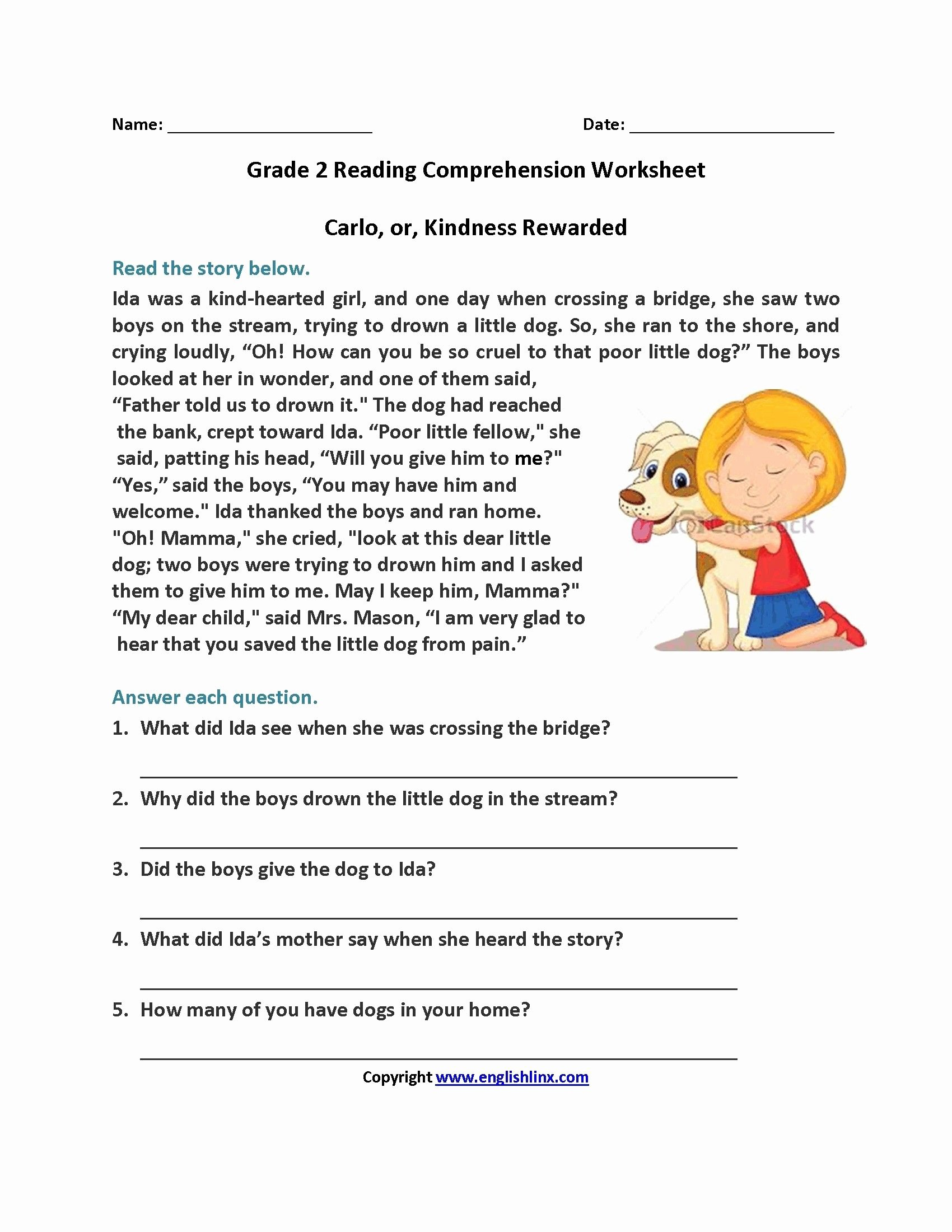 Grade 2 Reading Comprehension Worksheets Best Of 14 Periodic Free 1st Grade Reading Prehension Worksheets
