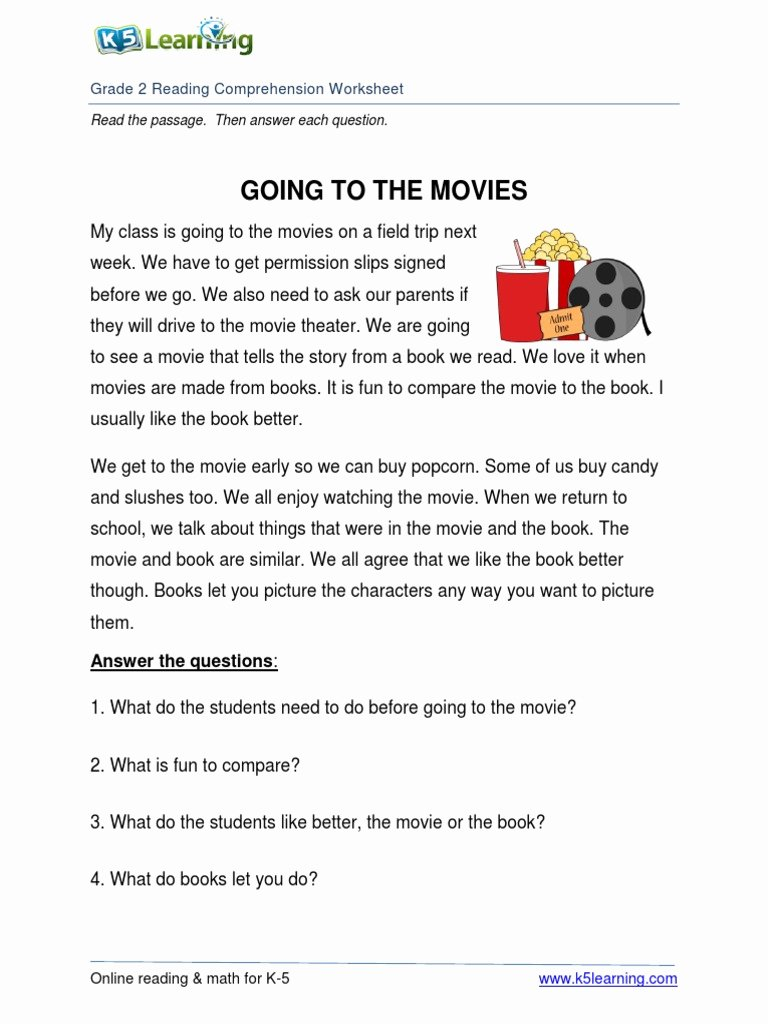 Grade 2 Reading Comprehension Worksheets Fresh Math Worksheet Tremendous Grade 2 Reading Prehension