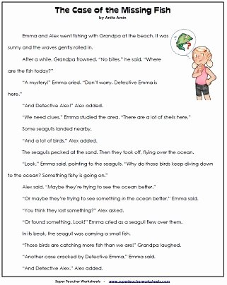 Grade 2 Reading Comprehension Worksheets Printable 2nd Grade Reading Prehension Printables
