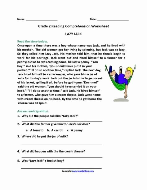 Grade 2 Reading Comprehension Worksheets Printable Sabong Kim Big Brothery Brother Ch Kim In 2020