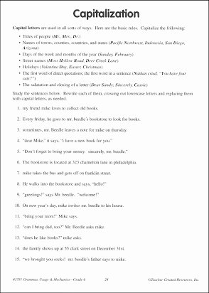 Grammar Usage and Mechanics Worksheets top English Grammar Usage and Mechanics