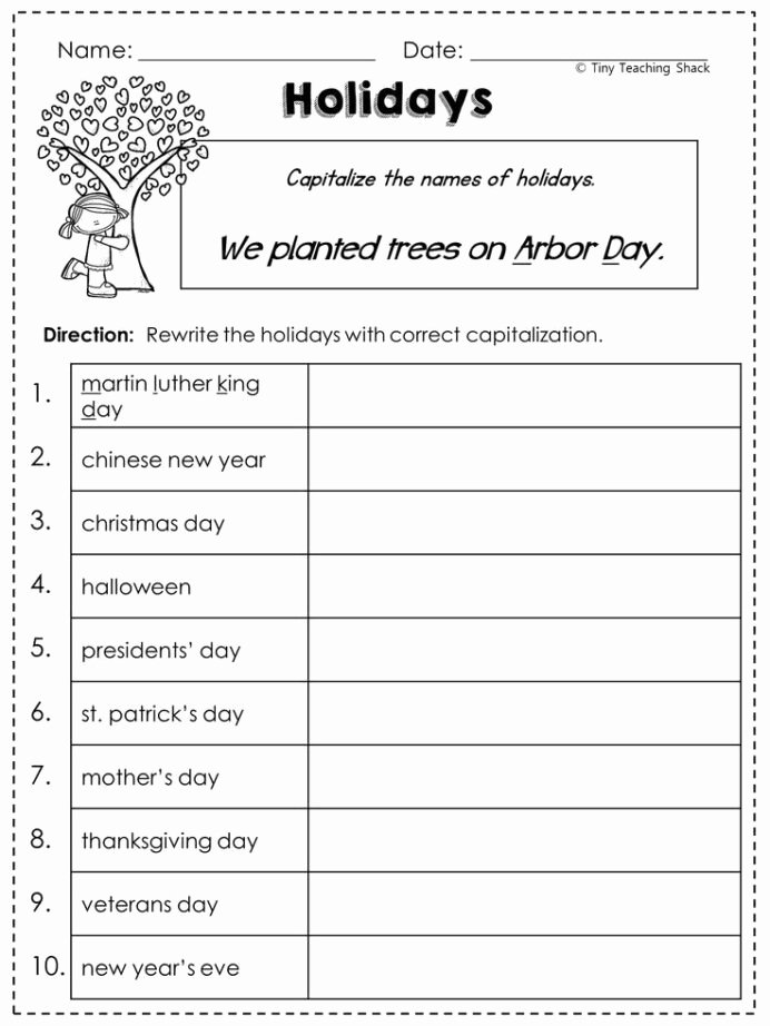 Grammar Worksheets for 2nd Grade Ideas 2nd Grade Language Arts and Grammar Practice Sheets Freebie