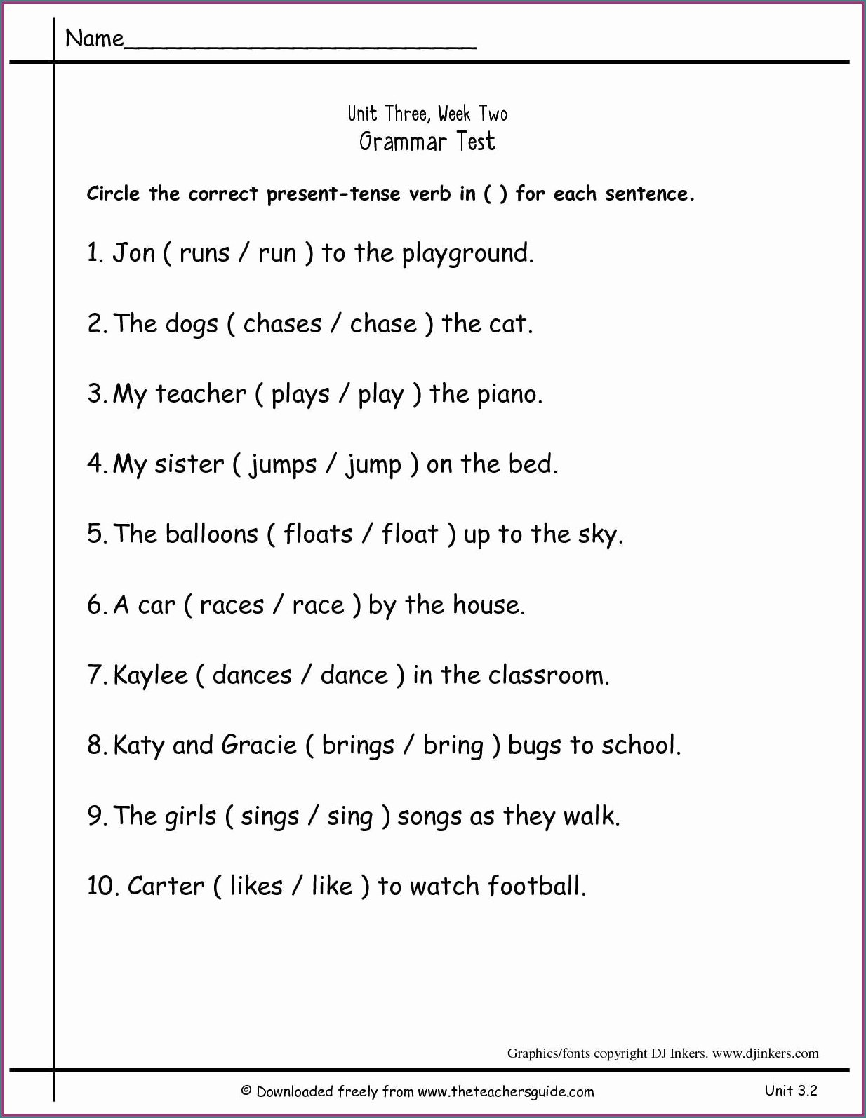 2nd grade grammarets second printable free to print games 1st reading