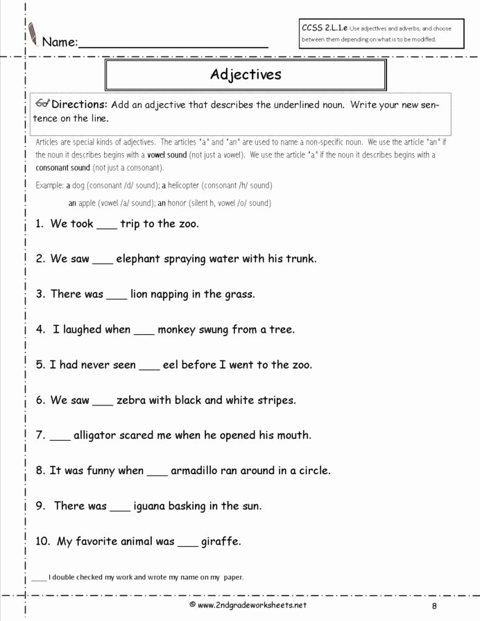 Grammar Worksheets for 2nd Grade top Free Language Grammar Worksheets and Printouts 2nd Grade