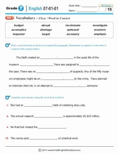 Grammar Worksheets for 8th Graders Printable Free 8th Grade Grammar Worksheets – Mreichert Kids Worksheets