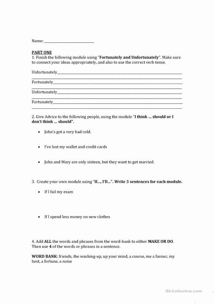 Grammar Worksheets for Middle School Inspirational High School Grammar English Esl Worksheets for Distance