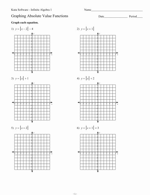 Graphing Absolute Value Equations Worksheet Ideas Graphing Absolute Value Equations Kuta software